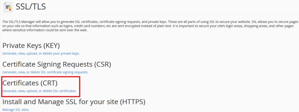 SSL certificate installation 4