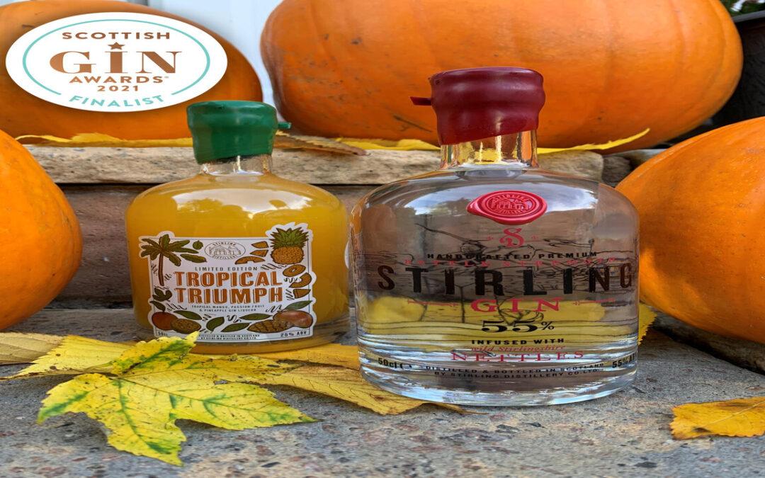 Stirling Distillery Tripadvisor reward recognition and Scottish Gin Award Shortlist