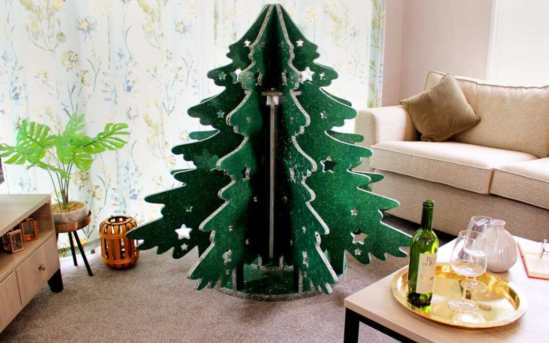 The world's first beach waste-derived Christmas tree